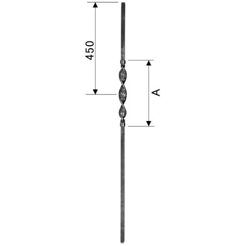 親柱と段端装飾 ロートアイアン...